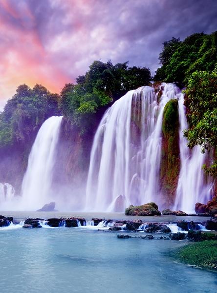 Восход над водопадом 200х270 см
