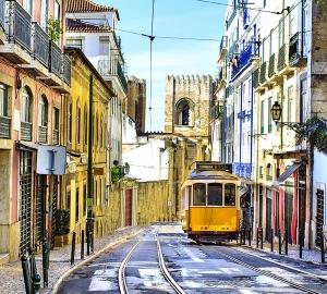 Желтый трамвай 300х270 см