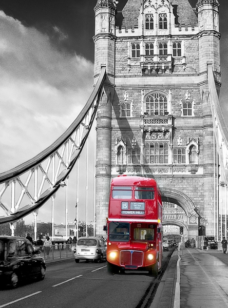 Фотообои/C коллекцияАвтобус на мосту 200х270 см
