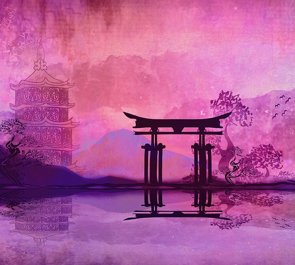 Храм Япония 300х270 см