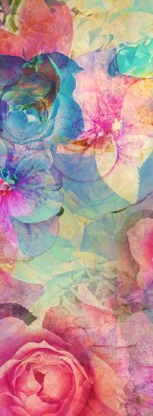 Фон принт цветы 100х270 см