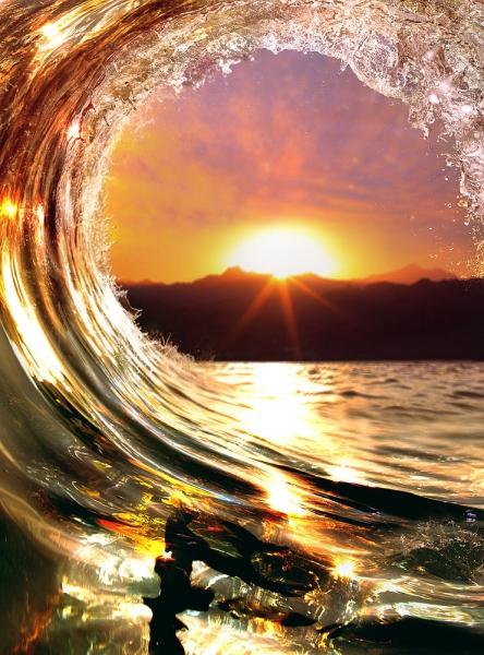 Волна на закате 200х270 см