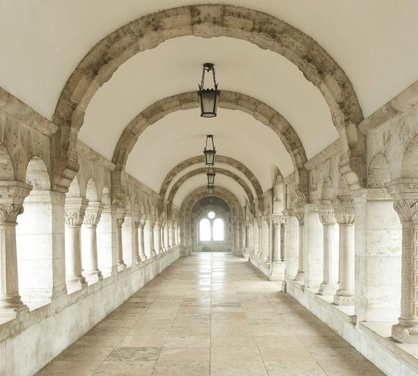 Фотообои/E коллекцияБелый коридор 300х270 см