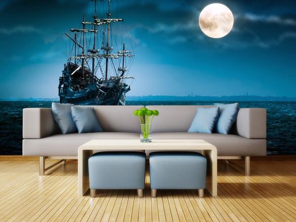 Корабль в ночи 400х270 см