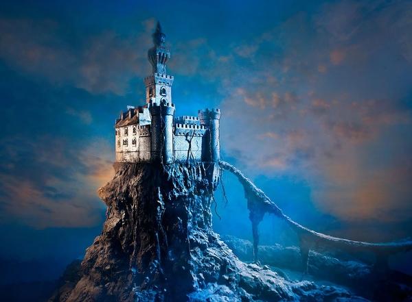 Замок на скале 200х147 см