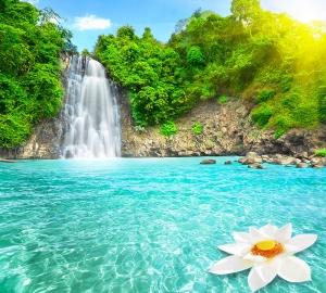 Водопад в лучах солнца 300х270 см