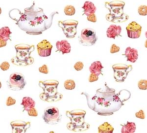 Чай с пирожными 300х270 см