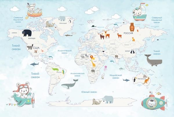 Карта путешествий 400х270