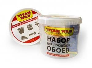 Titan Wild/Набор для поклейки обоев с клеемНабор для поклейки обоев с обойным клеем Titan Wild флиз 250 гр.